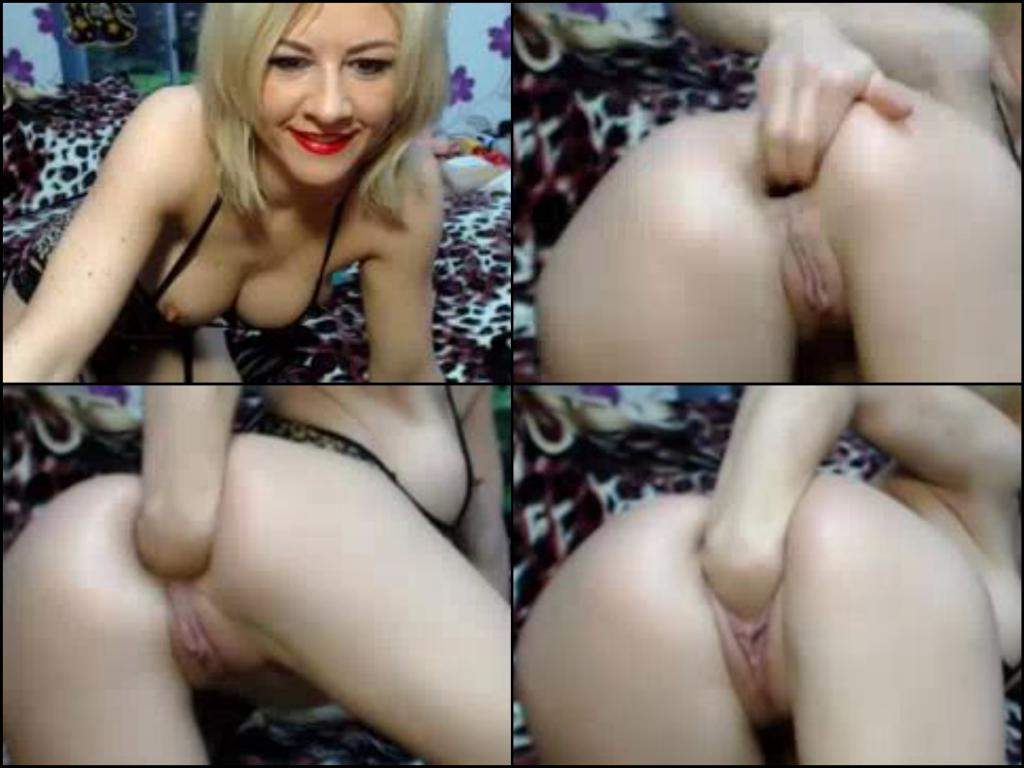 French Blond Mature Anal