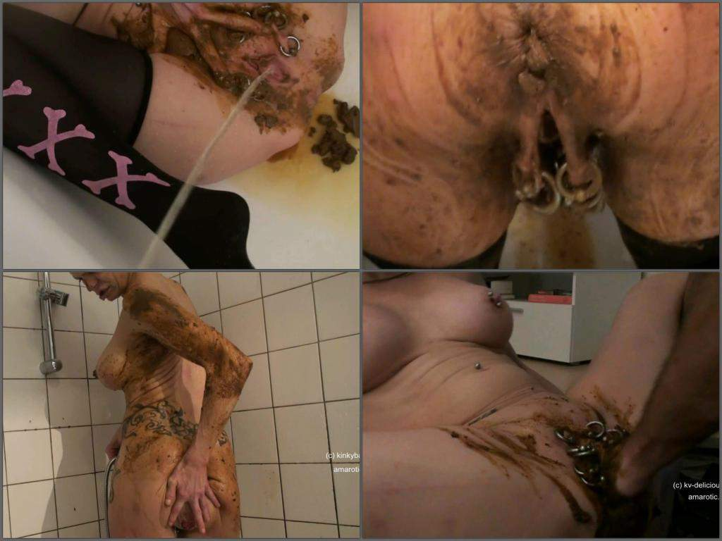 Brutal Scat Fisting Solo Busty Wife In Bathroom  Rare -3167