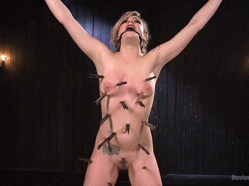 Dahlia Sky bdsm video with extreme torture