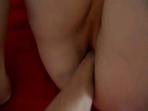 Dick extender and fist deep penetrated into gape cunt