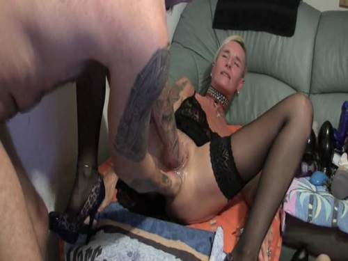 Delightful mature deep double fisting and rosebutt stretched