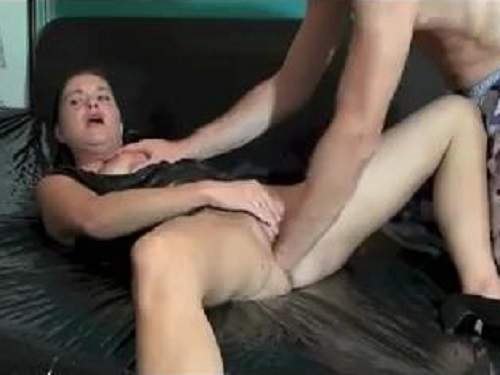 Exciting couple homemade fisting deeply vaginal