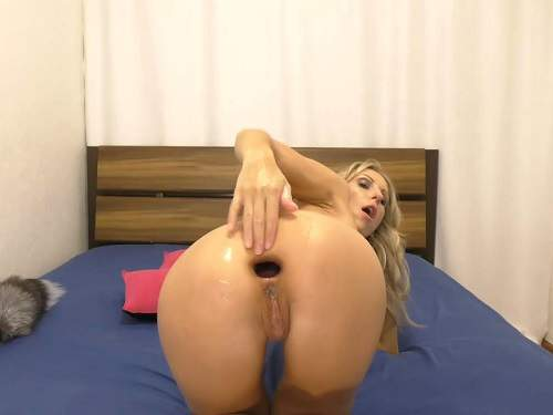 Anal gape porn with sexy skinny blonde webcam