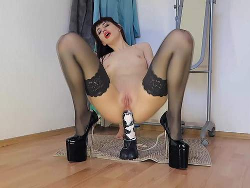 Russian girl monster beast dildo penetration anal