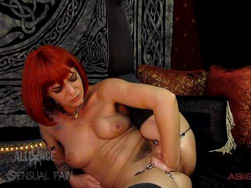 New 2017 Abigail Dupree fisting pussy and dildo fuck