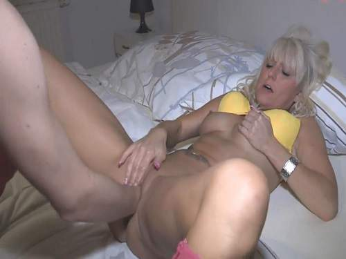 German goddess wife gets fisted from husband