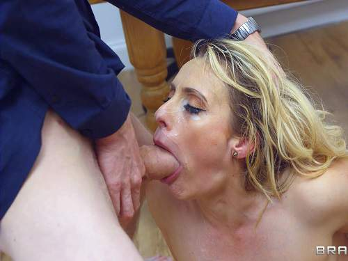 Throat gaggers and cumshot on face
