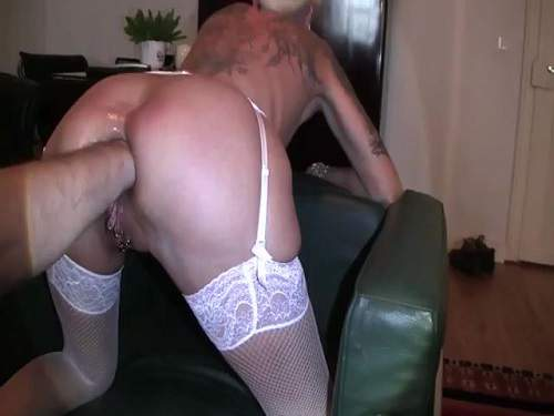 Fantastic kinky milf with small tits fisting anal hard