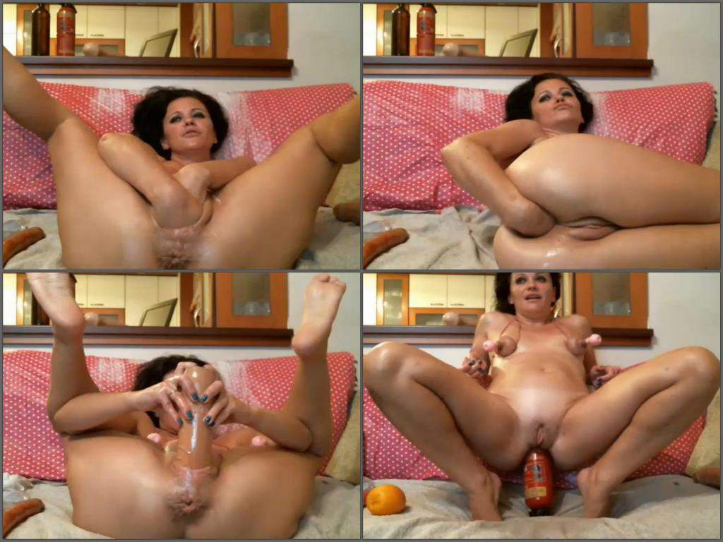 fire extinguisher penetration in ass,fire extinguisher anal fuck,double fisting,double fisting mature,webcam milf fire extinguisher riding,solo fisting anal