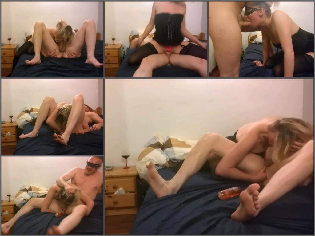 Wife deep blowjob husband