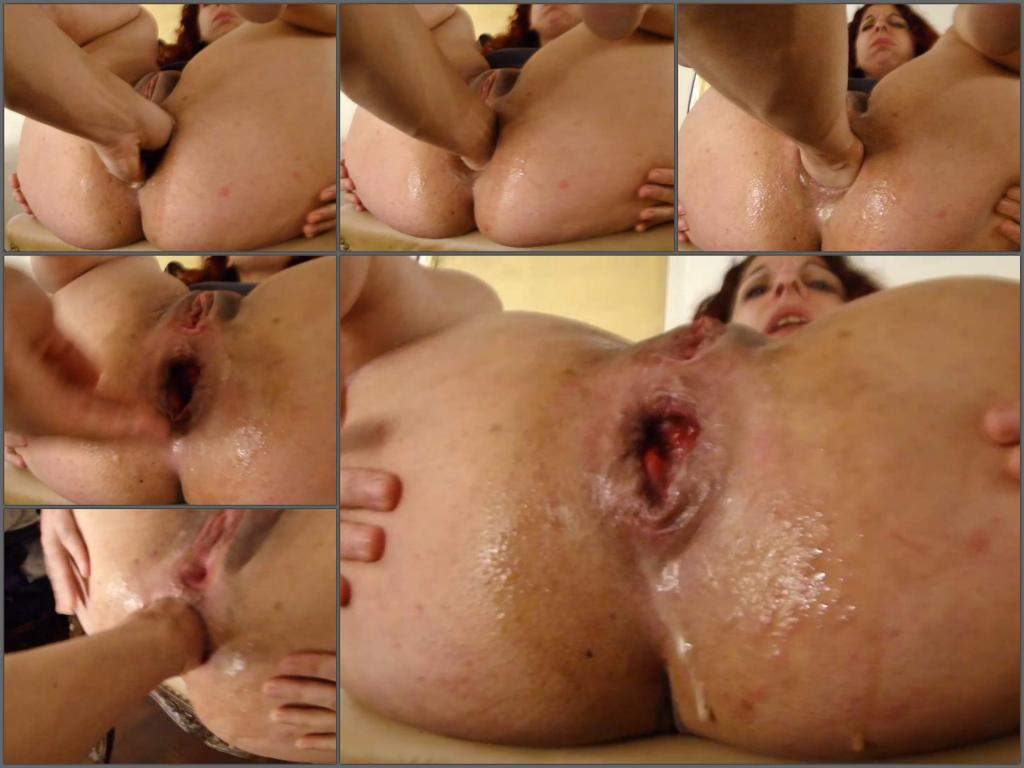 spanish big ass milf gets deep fisting from husband – release