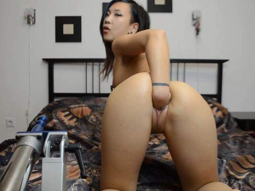 AsianDreamX get creamy and cum a lot! – Fucking machine porn