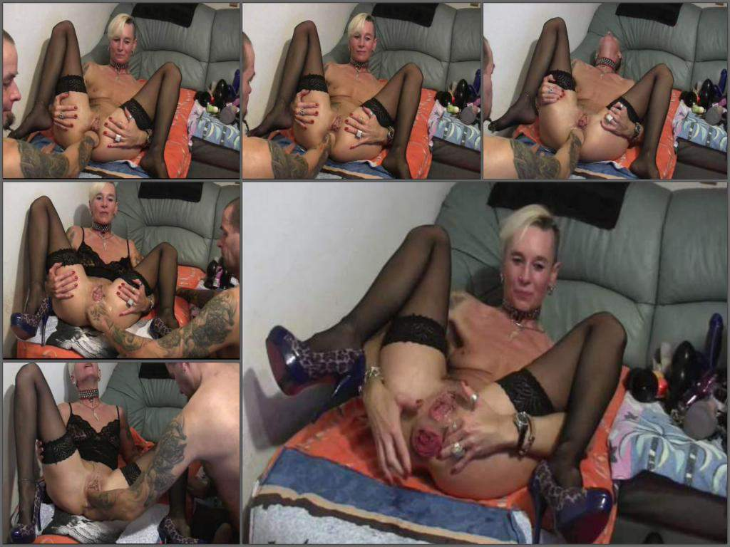anal prolapse,prolapse porn,fisting anal,deep fisting sex,hot fisting sex,big ass prolapse,ruined anus,tattooed milf anal