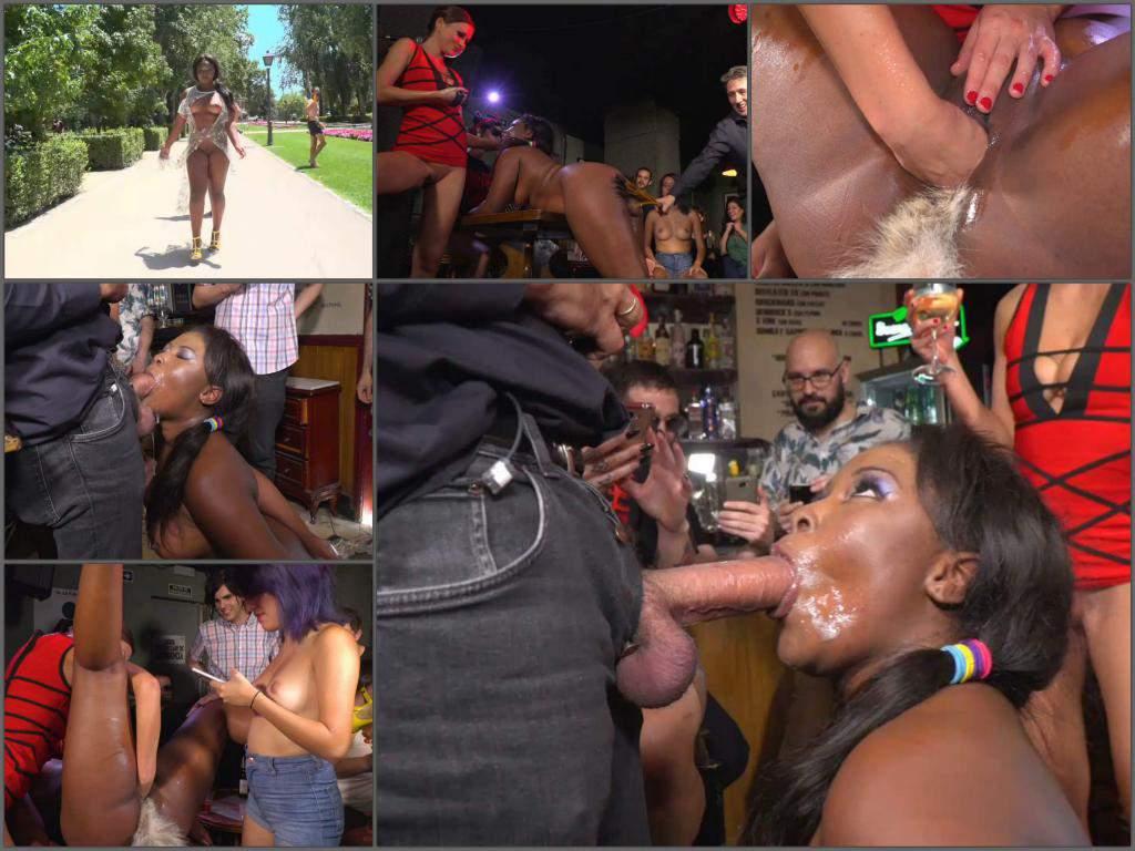 Tina Kay public fisting,Tina Kay domination,Tina Kay fisting domination,public fisting,naked on public,booty ebony,ebony spanking