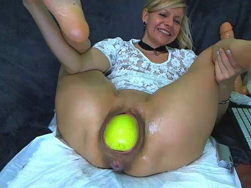 Really giant apple, dildos and fisting vaginal sexy milf – Release May 12, 2018