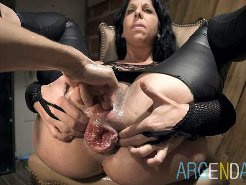 Kinky mature gets double fisted and rough loose sweet anal prolapse after
