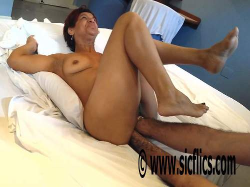 Dirty milf gets double fisted and husband show her big anal prolapse