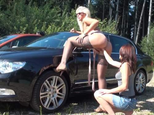 Czech lesbians outdoor vaginal fisting porn