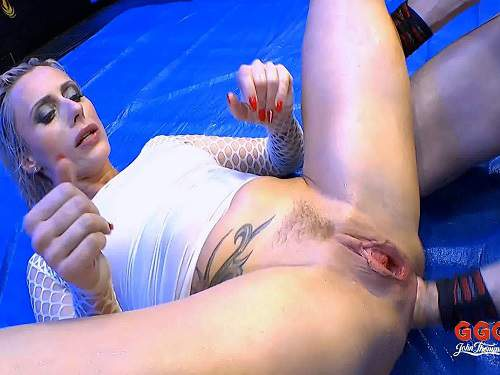 Brittany Bardot pissing domination and deep anal fisting with DP