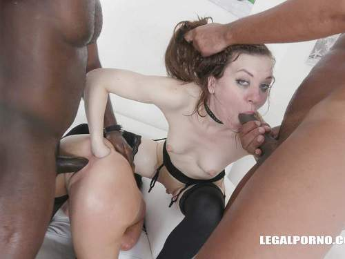Veronica Avluv and Monika Wild fisting in rosebutt ass gangbang part2