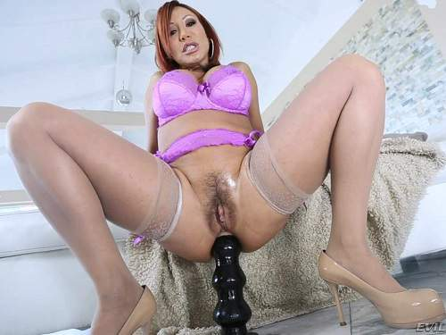 Ava Devine try anal fisting and gets huge black dildo deep in big ass