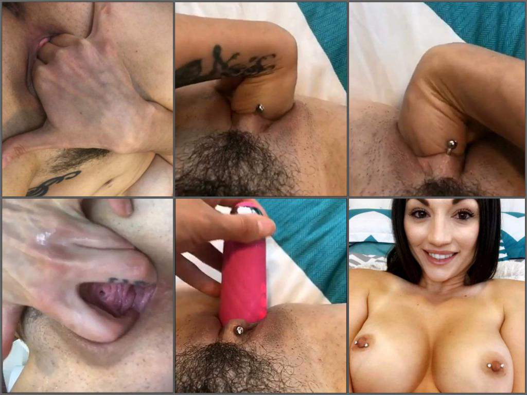 girl gets fisted,piercing nipples,piercing labia,solo fisting,try fisting,fisting sex solo