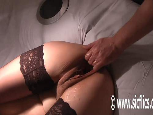 Footing – Monster gaping pussy stretching after fisting and footing