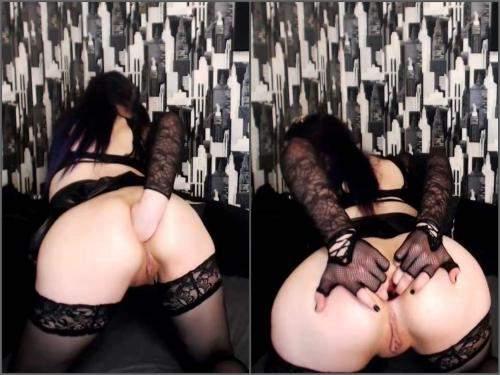 Solo fisting – DollFaceMonica anal gape comparison bigger and bigger webcam show