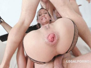 Anal prolapse - Lyna Cypher gets anal fisted and loose prolapse after TAP