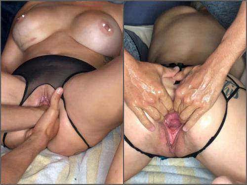 Pussy insertion – LilySkye stretching, and fisting pussy till squirt homemade
