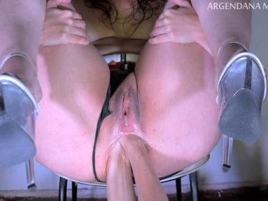 Double penetration - Big ass MILF gets rough double anal fisted from husband