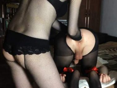 Closeup - Russian mistress Mary_Style anal fisting domination to slave husband