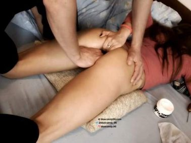 Amateur fisting - Cute brunette bluecandy96 gets fisted from her husband