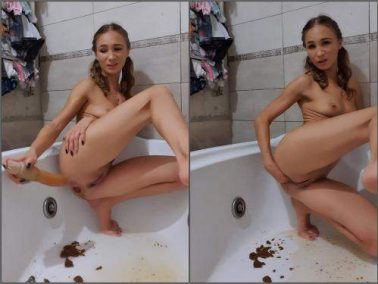 Scat fisting - AnalDirtyQueen cleaning my ass – deep fisting and enema scat porn
