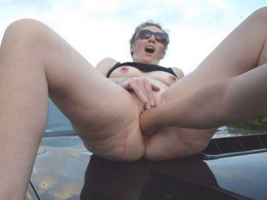Amateur fisting - Loosejane fisted on the bonnet of a truck – Premium user Request
