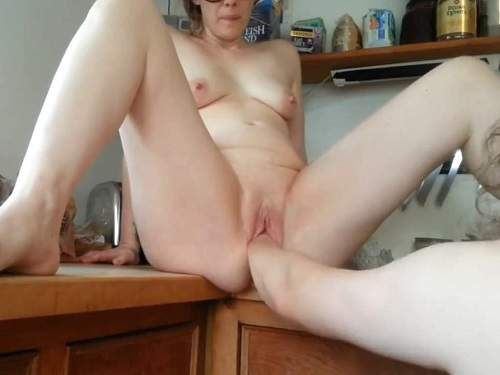 Mature fisting – Saggy tits german wife gets fisted and hot BJ