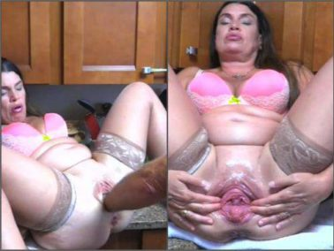 Pussy fisting - Hottabbycat pussy prolapse loose during deep fisting from husband