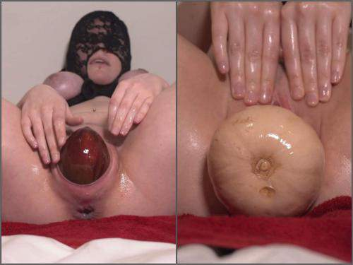 Amateur fisting – DirtyDance22 fruit and veg will wreck my pussy with masked wife