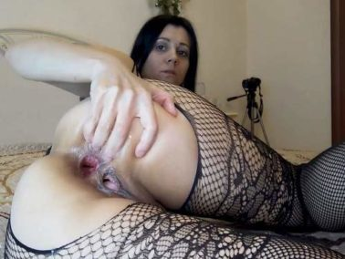 Anal - Large labia russian camgirl Kristinaslut self fisted her gaping hole