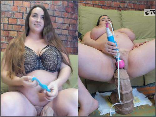 Bbw fisting – BBW Jeri Lynn first time with XXXL sea horse dildo – Premium user Request