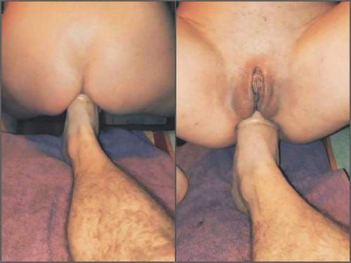 Anal footing – Amateur wife closeup gets anal footing from her husband