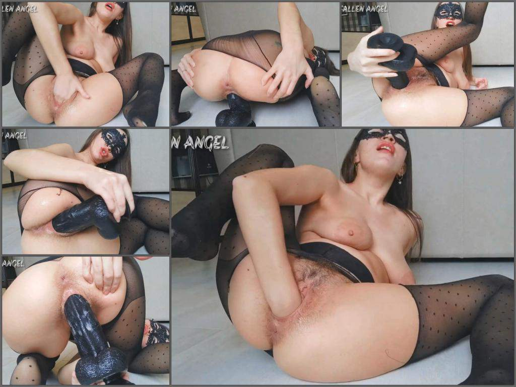 Fallen Angel pussy fisting,hairy pussy girl,hairy pussy porn,dildo riding,big dildo penetration,big dildo sex,stretching wet pussy