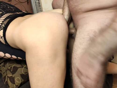 Double penetration – Rare amateur double penetration during fisting domination