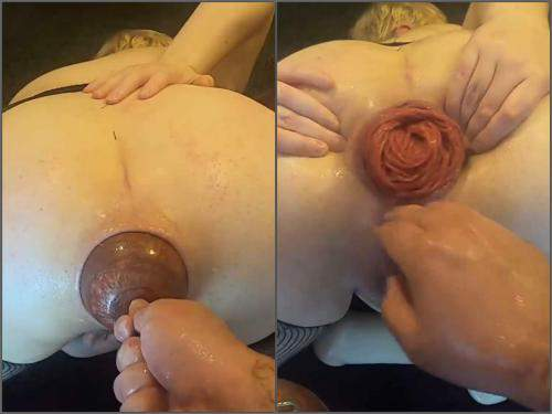 Anal fisting – Violet Buttercup my most extreme anal play ever – XXXL egg, deep anal and double fisting – Premium user Request