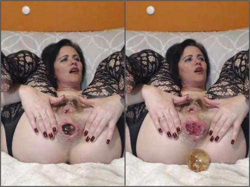 Double dildo – Kinky hairy pussy pornstar kinkyvivian big ball fully in pussy
