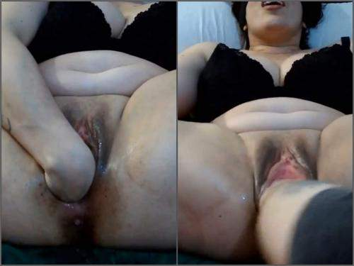 Hot asian facialized by big black dick