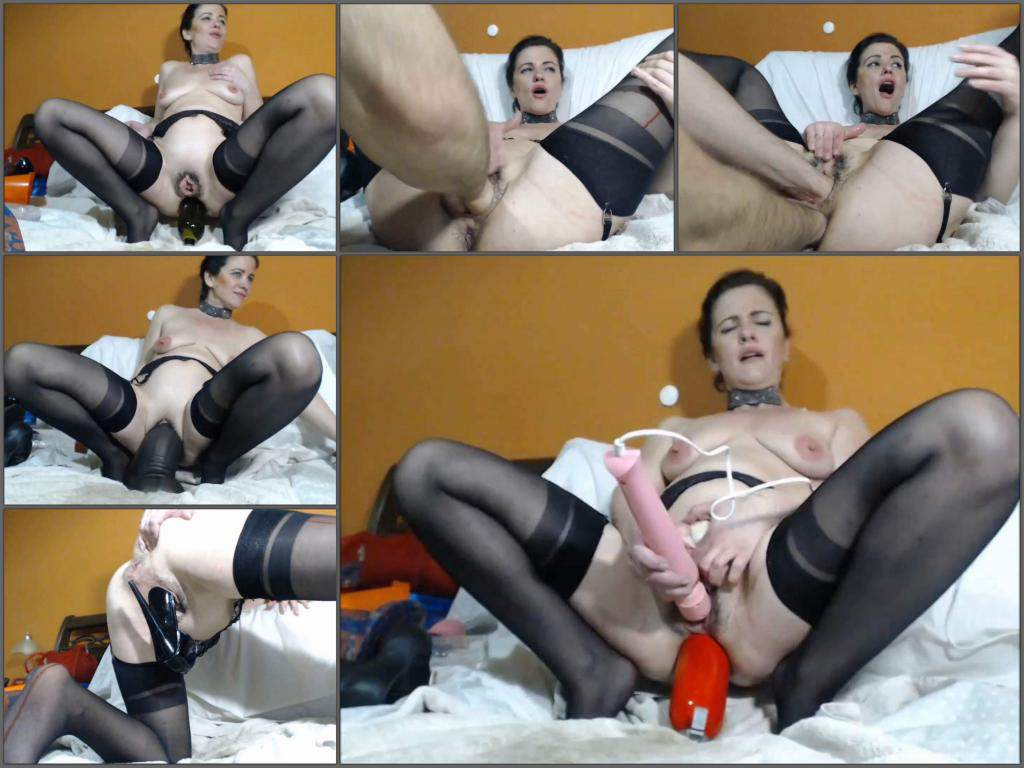 Analvivian bottle anal,Analvivian bottle rides,bbc dildo,bbc dildo sex,wine bottle penetration,extinguisher anal