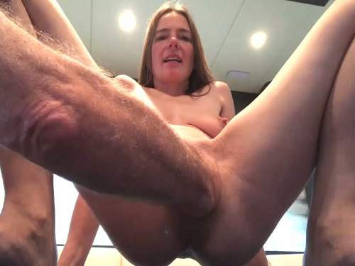 Amateur – Kinky german girl with saggy tits gets fisted from old male