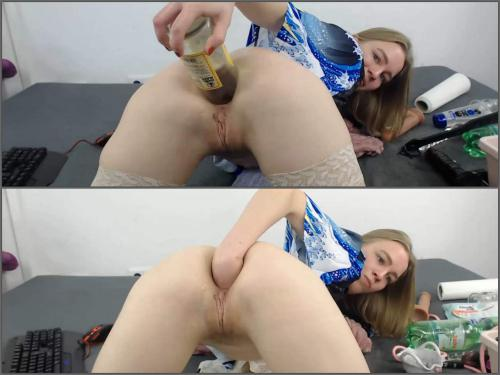 German girl – JanaBellaCam triple rosebud dildos in asshole at the moment