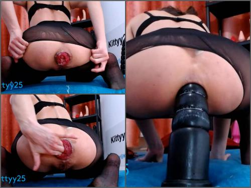 Prolapse ass – Kittyy25 dildoblack28cm anal RIDE,prolapse – Premium user Request